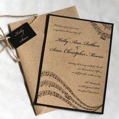 Music Wedding Invitation Notes By Willowglenstationery