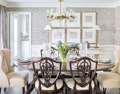 Dining Room Wallpaper Farrow Ball S Silvergate In Grisaille Defines The