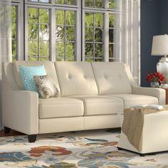 Stouffer Leather Sofa Sleeper