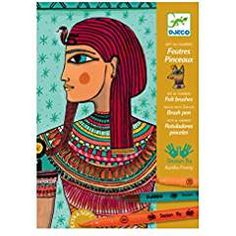 Djeco Felt Brush Coloring Egyptian. -- Read more at the image link. (This is an affiliate link) #FeltKits