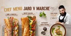 Spring menu design for Bageterie Boulevard   MAISON D'IDÉE