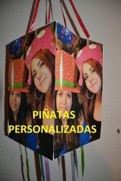 Piñatas  Personalizadas quiere colaborar, alegrando la Fiesta y personalizándola con estas piñatas, que podemos diseñar con cualquier tipo de imagen...personas, animales, naturaleza......y también diseñamos con la imagen: palillos, banderines,platos Espero que os hayan gustado.