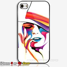 Girl Face Art Painting iPhone 4/4S Case