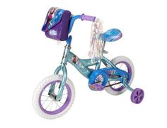 "Disney Bicycle Frozen 12"" Huffy Anna Elsa Girls' Bike Coaster Brake Blue Ride  #Huffy"