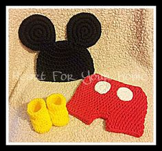 Mickey Mouse Crochet Photo Prop