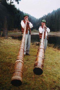 Trembity - national musical instrument of West Ukraine (reminds me of the alphorns in Switzerland)