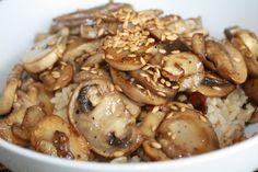 Vegan Busut-Dupbap (Mushroom over rice) Recipe