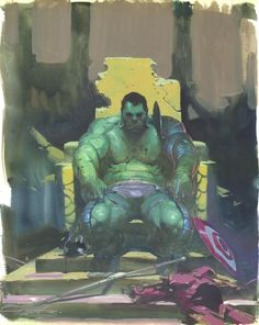 Hulk, by Esad Ribic (For Sale), in Adrien B.'s Commissions Comic Art Gallery Room Marvel Comics Art, Marvel Comic Universe, Hulk Marvel, Comics Universe, Marvel Heroes, Anime Comics, Avengers, Comic Book Artists, Comic Book Characters