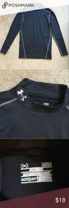 Under Armour Compression Top Compression cold gear men's top by Under Armour. Size large. Never worn, NWOT. My husband purchased this for a trip then forgot it at home, so it's never been used! Long sleeves. Mock turtleneck. Open to offers; bundles discounted. I ship daily - excluding Sundays and holidays - and I store items in a smoke free, pet free environment. Under Armour Shirts Tees - Long Sleeve