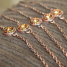 Copper Sun Petite Metal Bracelet Set of 5 by deedlesdesign on Etsy