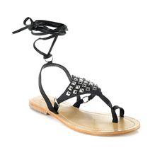 Amazon Black Sandal. #studded #sandals #s/s2015