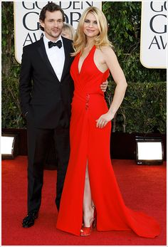 Claire Danes @ 2013 Golden Globes - love the dress and I think she looks fantastic after having a baby only a month ago!