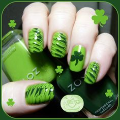 Nail of the Day: St. Paddy's Day! | Pointless Cafe