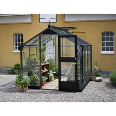 Home Greenhouse, Small Greenhouse, Rotation Des Cultures, Door Handle With Lock, Leaf Guard, Compact, Fresco, Concrete Pad, Garden Buildings