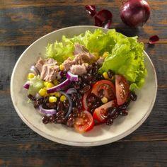 Salade met kidneybonen en tonijn