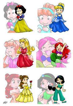 Princesses Fan arts.