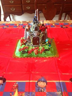 Castle and dragon cake