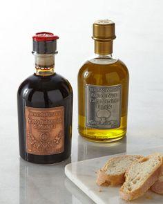Fernando Pensato Metal Label Truffle Olive Oil & Balsamic Vinegar Set