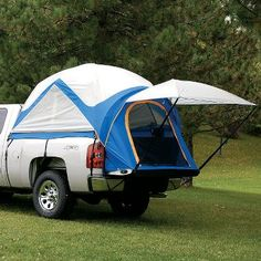 My kind of camping...off the ground & away from snakes.    Cabela's: Napier Sportz Truck Tents