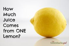"I've always wondered what they mean by ""juice of one lemon"""