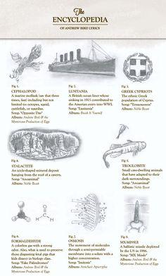 Infographic: The Encyclopedia of Andrew Bird Lyrics