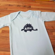 Personalized Baby Clothes, Personalised Baby, Personalized T Shirts, Baby Clothes Uk, Baby Grows, Tshirt Colors, My Etsy Shop, Check, Mens Tops
