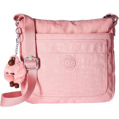 Kipling Sebastian Crossbody (Scallop Pink) Cross Body Handbags (150 BRL) ❤ liked on Polyvore featuring bags, handbags, shoulder bags, cross-body handbag, shoulder handbags, kipling shoulder bag, pink shoulder bag and handbags crossbody