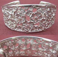Silver Rose Bangle  Edinburgh Malcolm Appleby Width: 3cm  £475