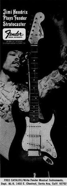Jimi Hendrix play Fender Stratocaster