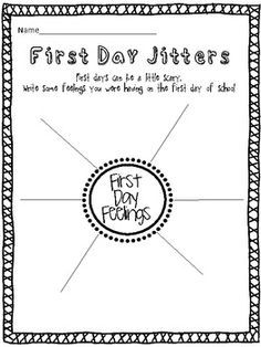 first day jitters activities second grade - Google Search