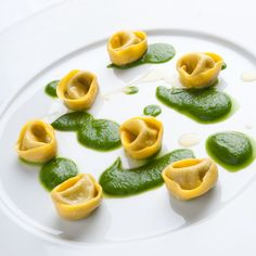 Tortelli de moules sauce laitue