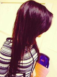 #purple #dyed #scene #hair #pretty