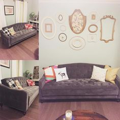 1000 ideas about Grey Tufted Sofa on Pinterest