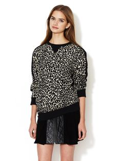 timo weiland eve printed sweat top