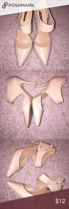 Beige Stilettos Size 9. From forever 21. See photos for marks and damage. Forever 21 Shoes Heels
