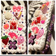 Mother daughter semi matching cases  #decoden #deco #kawaii #iphone #phonecase #cute #cabochons #diy