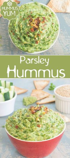 Quick and easy parsley hummus recipe. Use it as a spread or as a dip. Perfect way to preserve parsley Vegetable Recipes, Vegetarian Recipes, Healthy Recipes, Vegetarian Brunch, Vegan Blogs, Snacks Recipes, Delicious Recipes, Easy Recipes, Healthy Appetizers