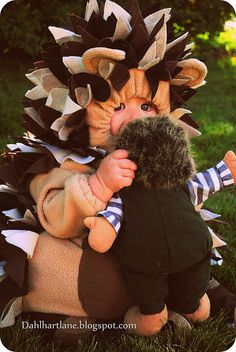 Okay.. now I want a kid for a day, just to dress up like a hedgehog for Halloween. Not fair.