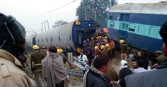 #world #news  Major train accident in India leaves several injured