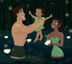 Naveen & Tiana. There daughter's name is Stella, which means star.
