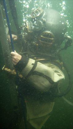Vintage Helmet, Sea Diving, Deep Sea, Underwater, Northern Lights, Hat, Travel, Diving, Trousers