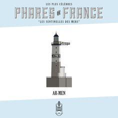 Véritables sentinelles des mers et prouesses architecturales, les phares de France balisent nos côtes maritimes. Cette affiche est une collection de 60 phares emblématiques de la mer du Nord, de l'Atlantique, de la Méditerranée et de l'Outre-Mer. Embarquez avec la Majorette : souvenirs de vacances et évasion garanties. Phare d'AR-MEN
