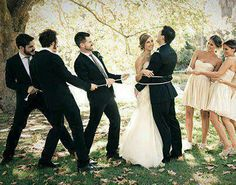 Wedding Photography Bridal Party Groomsmen Photo I Funny Wedding Photography, Funny Wedding Photos, Wedding Pictures, Funny Weddings, Photography Kids, Wedding Picture Poses, Wedding Poses, Dress Wedding, Wedding Photoshoot