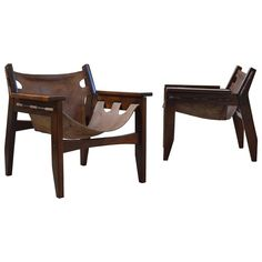 "Pair of Brazilian ""Kilin"" Chairs and Table by Sergio Rodrigues, 1973"