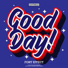 Pop Good Day Text Effect For Poster Design Element Pop Design, Text Design, Creative Typography, Typography Design, Letras Abcd, Game Font, Poster Text, Pop Posters, Retro Font