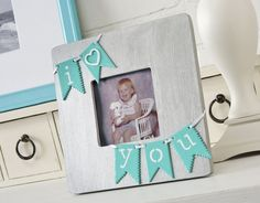 DIY I Heart You Picture Frame. Here's another idea to transform a dollar store frame into this custom I Heart You picture frame by adding some random craft and scrapbooking supplies. It's so cute and easy to make. See the tutorial here.