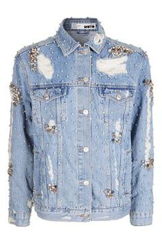 Shop the latest arrivals at Topshop with New In clothing and accessories. Denim Button Up, Button Up Shirts, Asos, Blue Jean Jacket, Fashion Art, Fashion Design, New Outfits, Pretty Dresses, Jeans