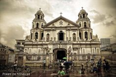 Quiapo Church by Perry de Venecia on Place Of Worship, Notre Dame, Philippines, Tourism, Street View, House Styles, Jesus Cristo, Iglesias, Mosques