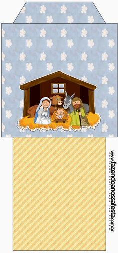 Sweet Nativity Scene: Free Party Printables.