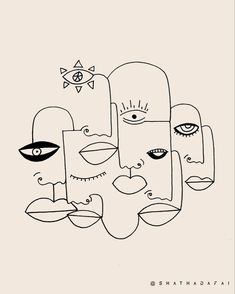 Human Condition ~ 🖤 . . . . . . . . . . . [ #design #minimal #originalart #art #creative #designer #modernart #visualdesign #instaart… Abstract Line Art, Abstract Drawings, Art Drawings, Abstract Art Tattoo, Abstract Faces, Line Art Tattoos, Tattoo Art, Line Artwork, Quirky Art